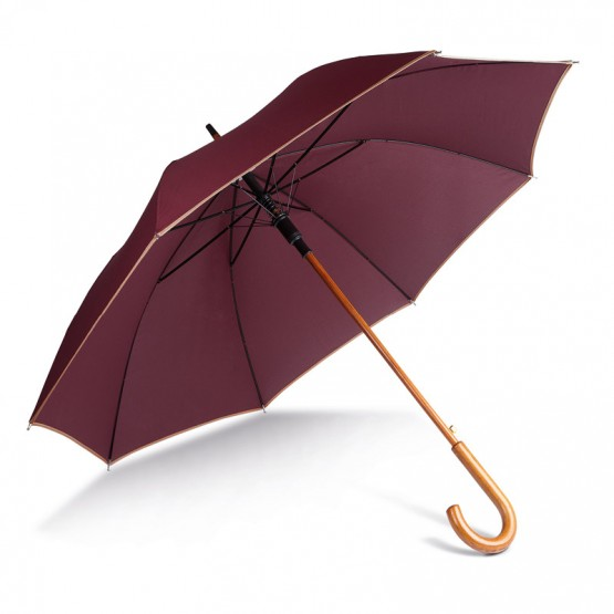 Automatic wooded umbrella