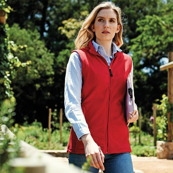 Women's microfleece bodywarmer
