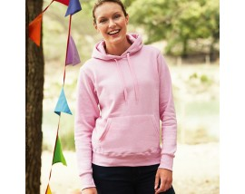 Classic 80/20 lady-fit hooded sweatshirt