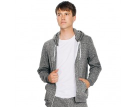Salt and pepper zip hoodie (MT497)