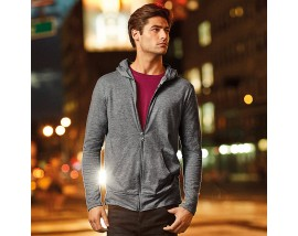 Anvil triblend full-zip hooded jacket