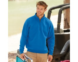 Premium 70/30 zip neck sweatshirt