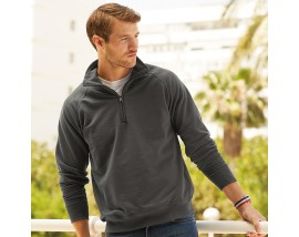 Lightweight zip neck sweatshirt