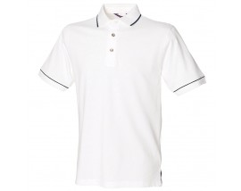 Single tipped collar and cuff polo shirt