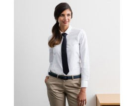 Women's modern long sleeve Oxford shirt