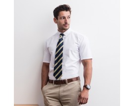 Modern short sleeve Oxford shirt