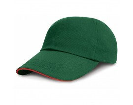 Low-profile heavy brushed cotton cap with sandwich peak