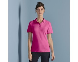 Women's softstyle double piqué polo