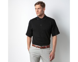 Jersey knit collar polo
