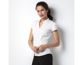 Women's continental blouse mandarin collar cap sleeve
