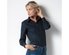 Women's workplace Oxford blouse long sleeved
