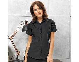 Women's supreme poplin short sleeve shirt