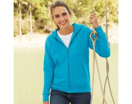 Premium 70/30 lady-fit hooded sweatshirt jacket