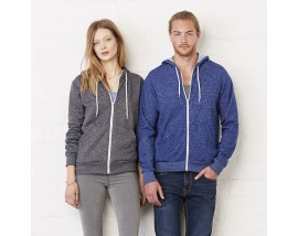 Unisex polycotton fleece full zip hoodie